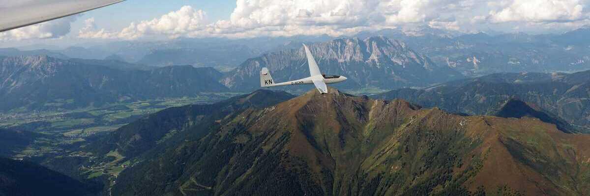 Flugwegposition um 13:58:47: Aufgenommen in der Nähe von St. Nikolai im Sölktal, 8961, Österreich in 2684 Meter