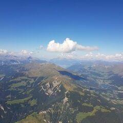 Flugwegposition um 13:02:12: Aufgenommen in der Nähe von Albula, Schweiz in 2967 Meter