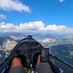 Flugwegposition um 14:17:53: Aufgenommen in der Nähe von Eisenerz, Österreich in 2415 Meter