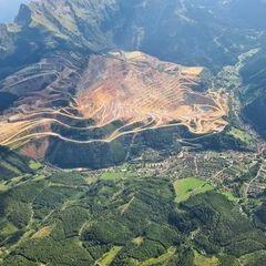 Flugwegposition um 14:23:14: Aufgenommen in der Nähe von Eisenerz, Österreich in 2315 Meter