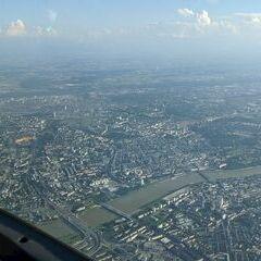 Flugwegposition um 15:34:58: Aufgenommen in der Nähe von Linz, Österreich in 1633 Meter