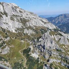Flugwegposition um 10:54:58: Aufgenommen in der Nähe von Weng im Gesäuse, 8913, Österreich in 1782 Meter