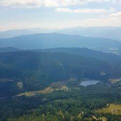 Flugwegposition um 11:18:12: Aufgenommen in der Nähe von Gemeinde Tamsweg, 5580 Tamsweg, Österreich in 2121 Meter