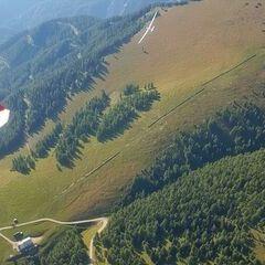 Flugwegposition um 14:30:30: Aufgenommen in der Nähe von Aflenz Kurort, 8623 Aflenz Kurort, Österreich in 1989 Meter