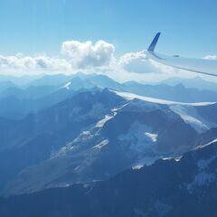 Flugwegposition um 14:36:51: Aufgenommen in der Nähe von 39030 Gemeinde Ahrntal, Südtirol, Italien in 3601 Meter