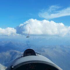 Flugwegposition um 14:43:57: Aufgenommen in der Nähe von 39032 Sand in Taufers, Südtirol, Italien in 3361 Meter