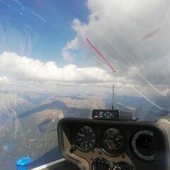 Flugwegposition um 13:18:54: Aufgenommen in der Nähe von 39030 Rasen-Antholz, Südtirol, Italien in 3137 Meter