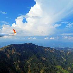 Flugwegposition um 13:34:10: Aufgenommen in der Nähe von Gemeinde Pernegg an der Mur, Österreich in 1674 Meter