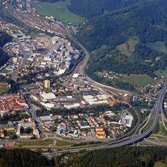 Flugwegposition um 13:30:48: Aufgenommen in der Nähe von Bruck an der Mur, 8600 Bruck an der Mur, Österreich in 1895 Meter