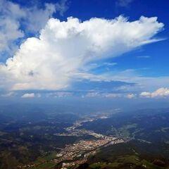 Flugwegposition um 13:29:09: Aufgenommen in der Nähe von Gemeinde Oberaich, 8600 Oberaich, Österreich in 2060 Meter
