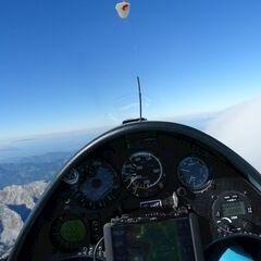Flugwegposition um 13:31:40: Aufgenommen in der Nähe von Gemeinde Hinterstoder, Hinterstoder, Österreich in 3050 Meter