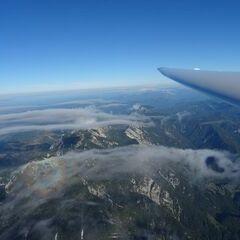 Flugwegposition um 14:53:08: Aufgenommen in der Nähe von Gemeinde St. Pankraz, Österreich in 2854 Meter