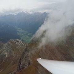 Flugwegposition um 16:38:59: Aufgenommen in der Nähe von 39041 Brenner, Autonome Provinz Bozen - Südtirol, Italien in 2637 Meter