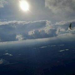 Flugwegposition um 13:55:17: Aufgenommen in der Nähe von Gemeinde Haugschlag, 3874, Österreich in 1319 Meter