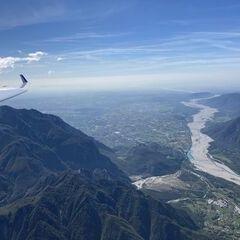 Flugwegposition um 10:39:03: Aufgenommen in der Nähe von 33010 Venzone, Udine, Italien in 2137 Meter