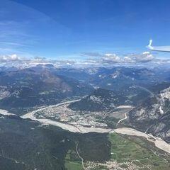 Flugwegposition um 10:43:07: Aufgenommen in der Nähe von 33020 Cavazzo Carnico, Udine, Italien in 1897 Meter