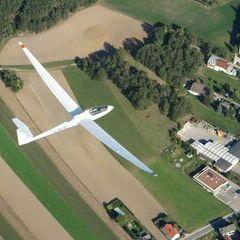Flugwegposition um 14:00:56: Aufgenommen in der Nähe von Gemeinde Höflein an der Hohen Wand, Österreich in 1277 Meter