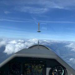 Flugwegposition um 07:55:15: Aufgenommen in der Nähe von Gemeinde Nötsch im Gailtal, Österreich in 2626 Meter