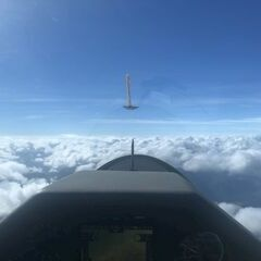 Flugwegposition um 12:14:43: Aufgenommen in der Nähe von Gemeinde Nötsch im Gailtal, Österreich in 3077 Meter
