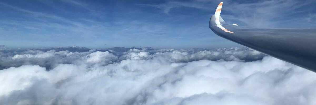 Flugwegposition um 07:54:50: Aufgenommen in der Nähe von Gemeinde Nötsch im Gailtal, Österreich in 2596 Meter