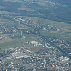 Flugwegposition um 13:48:01: Aufgenommen in der Nähe von Gemeinde Ternitz, Österreich in 1809 Meter