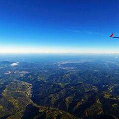 Flugwegposition um 14:40:00: Aufgenommen in der Nähe von Gemeinde Übelbach, Österreich in 3570 Meter