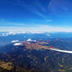 Flugwegposition um 12:06:58: Aufgenommen in der Nähe von Gemeinde Soboth, Soboth, Österreich in 3814 Meter