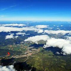 Flugwegposition um 12:59:35: Aufgenommen in der Nähe von St. Wolfgang-Kienberg, 8742, Österreich in 4717 Meter