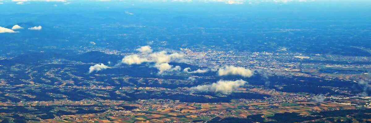 Flugwegposition um 11:56:04: Aufgenommen in der Nähe von Kloster, 8530 Kloster, Österreich in 4003 Meter