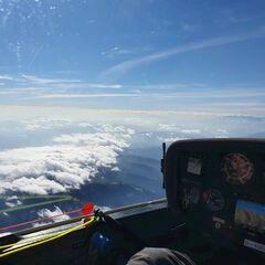 Flugwegposition um 12:28:10: Aufgenommen in der Nähe von Gemeinde Schottwien, Österreich in 3745 Meter