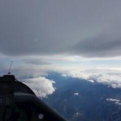 Flugwegposition um 09:30:40: Aufgenommen in der Nähe von Gemeinde Rosenau am Hengstpaß, Österreich in 4853 Meter