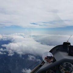 Flugwegposition um 09:50:45: Aufgenommen in der Nähe von Gemeinde Wildalpen, 8924, Österreich in 4493 Meter