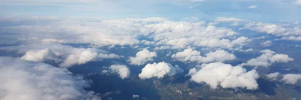 Flugwegposition um 07:04:02: Aufgenommen in der Nähe von Mürzsteg, Österreich in 3542 Meter