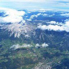 Flugwegposition um 10:28:00: Aufgenommen in der Nähe von Schladming, Österreich in 5944 Meter