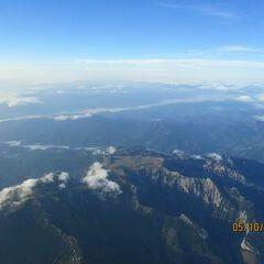 Flugwegposition um 06:07:38: Aufgenommen in der Nähe von Gemeinde Schwarzau im Gebirge, Österreich in 3829 Meter