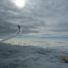 Flugwegposition um 07:57:24: Aufgenommen in der Nähe von Gemeinde Hinterstoder, Hinterstoder, Österreich in 5664 Meter