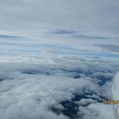 Flugwegposition um 07:57:19: Aufgenommen in der Nähe von Gemeinde Hinterstoder, Hinterstoder, Österreich in 5656 Meter