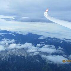Flugwegposition um 07:57:47: Aufgenommen in der Nähe von Gemeinde Hinterstoder, Hinterstoder, Österreich in 5698 Meter
