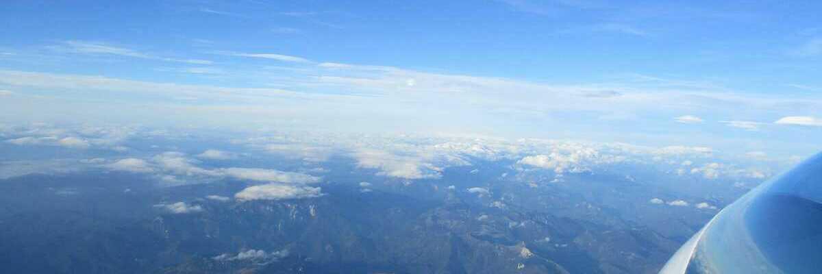 Flugwegposition um 06:07:33: Aufgenommen in der Nähe von Gemeinde Schwarzau im Gebirge, Österreich in 3839 Meter
