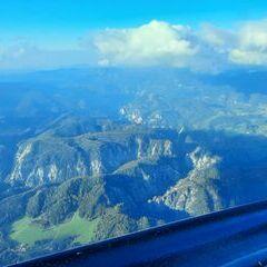 Flugwegposition um 14:27:24: Aufgenommen in der Nähe von Gemeinde Mitterbach am Erlaufsee, Österreich in 1906 Meter