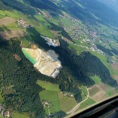 Flugwegposition um 11:47:55: Aufgenommen in der Nähe von Gemeinde Rainbach im Innkreis, Österreich in 1161 Meter
