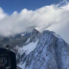 Flugwegposition um 08:26:21: Aufgenommen in der Nähe von Gemeinde Zell, Österreich in 2160 Meter