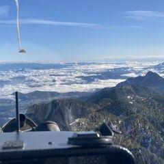 Flugwegposition um 08:05:30: Aufgenommen in der Nähe von Gemeinde Finkenstein am Faaker See, Österreich in 2089 Meter